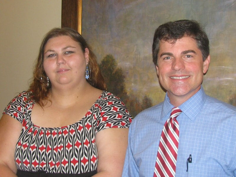 M'Lissa Booth and Atty. Jeff Powers - Workers Compensation Lawyer Macon