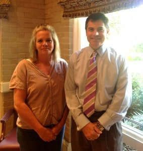 Lori Meeks w/ Work Injury Lawyer Macon Jeff Powers