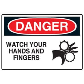 DANGER: Watch Your Hands and Fingers