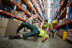 Work injury at warehouse